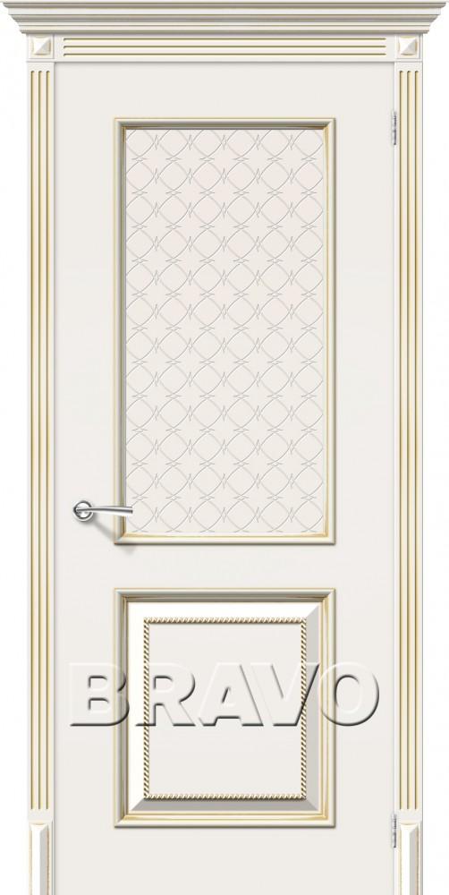 Межкомнатные двери белое золото