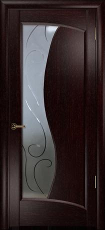 двери межкомнатные смеральда цвет венге со стеклом фабрика арт деко